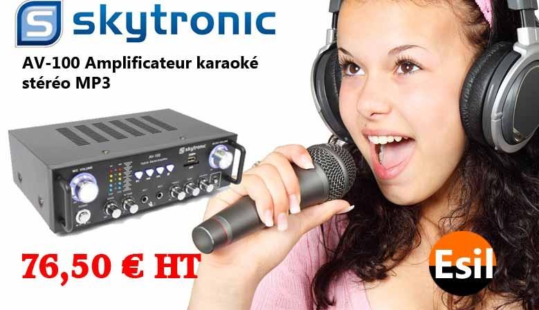 AV-100 Amplificateur karaoké stéréo MP3
